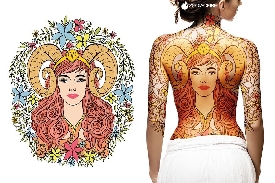 Goddess Spine Tattoo: 11 Jaw-Dropping Aries Tattoo Design Ideas...