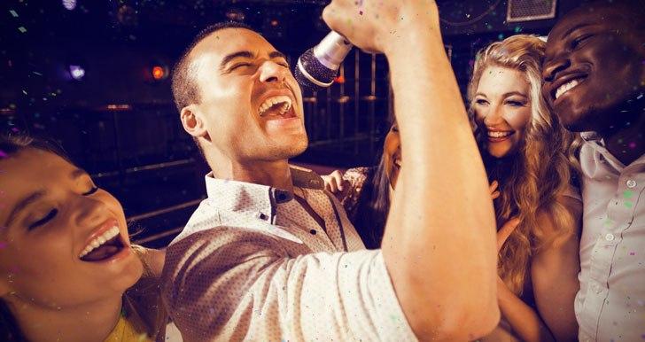 Libra singing karaoke