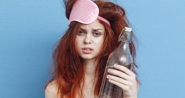 Virgo woman with a hangover